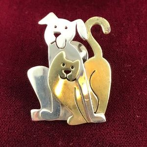 Take us home Silver & Brass Dog & Cat Buddies